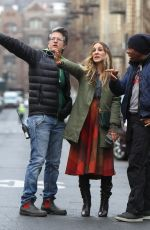 SARAH JESSICA PARKER on the Set of Divorce in New York 02/06/2019