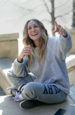 SARAH JESSICA PARKER on the Set of Divorce, Season 3 in New York 02/05/2019