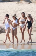 SELENA GOMEZ and Friends in Bikinis at a Beach in Cabo San Lucas 02/11/2019