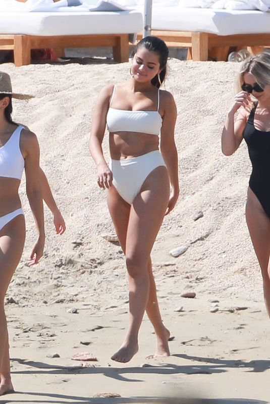 SELENA GOMEZ in Bikini on the Beach in Cabo San Lucas 02/11/2019