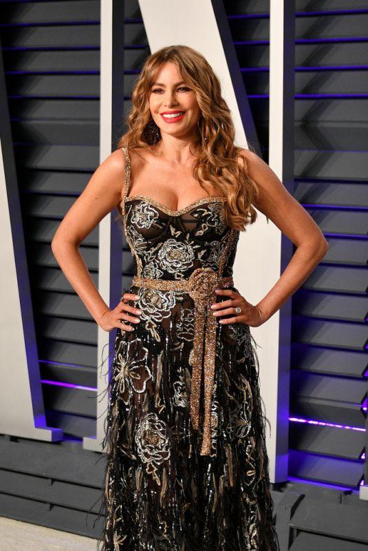 SOFIA VERGARA at Vanity Fair Oscar Party in Beverly Hills 02/24/2019