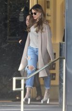 SOFIA VERGARA Shopping at Saks Fifth Avenue in Beverly Hills 02/07/2019
