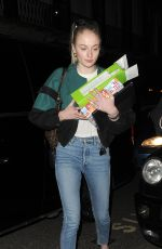 SOPHIE TURNER Out and About in London 02/13/2019