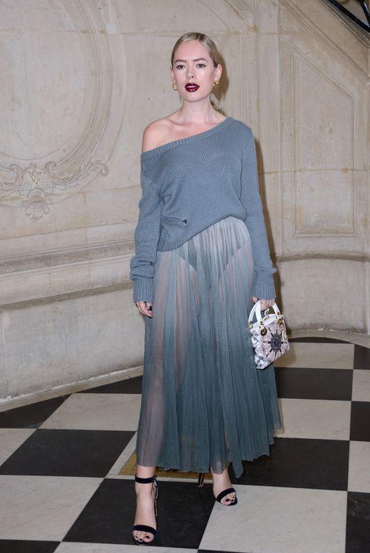 TANYA BURR at Christian Dior Show at Paris Fashion Week 02/26/2019