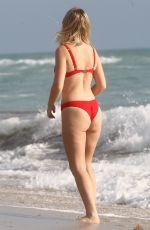 TANYA BURR in Bikini at a Beach in Miami 02/01/2019