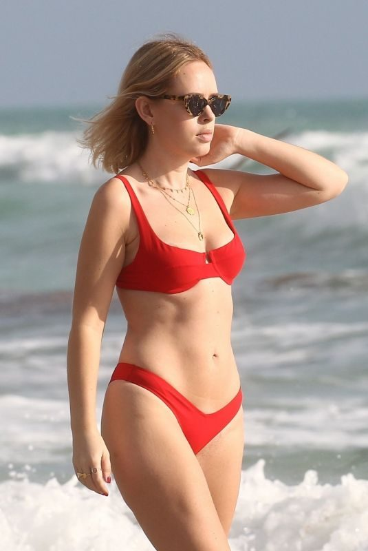 TANYA BURR in Bikini at a Beach in Miami 02/01/2019