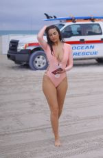 TAO WICKRATH in Swimsuit on the Beach in Miami 02/11/2019