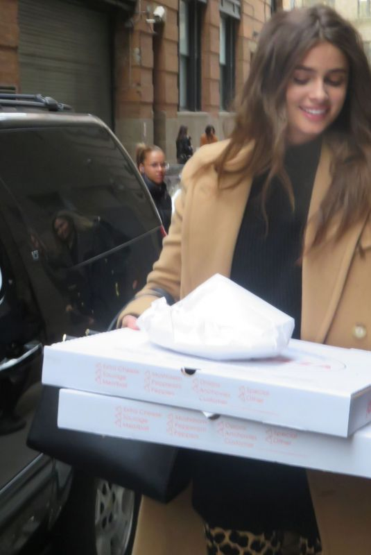 TAYLOR HILL Out for Pizza in New York 02/11/2019