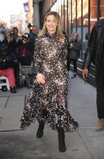 TAYLOR SCHILLING Arrives at AOL Build in New York 02/05/2019