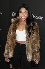 TEALA DUNN at Spotify Best New Artist 2019 in Los Angeles 02/07/2019