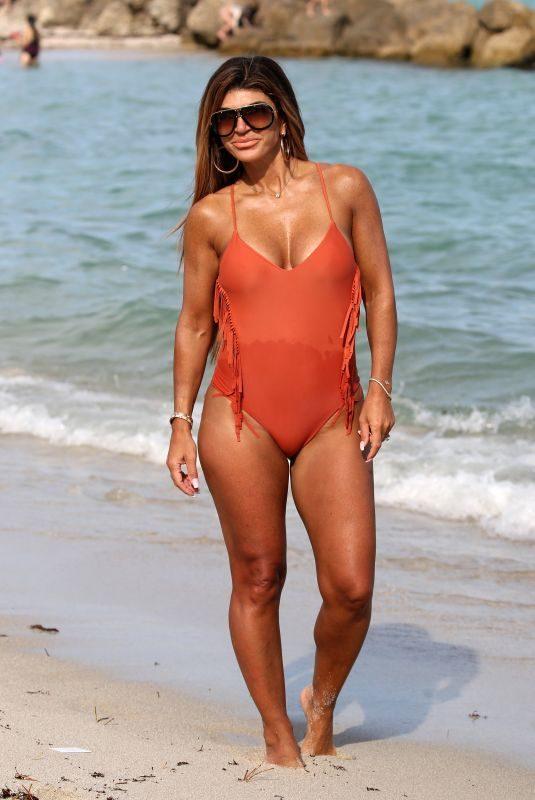 TERESA GIUDICE in Swimsuit at a Beach in Miami 02/15/2019