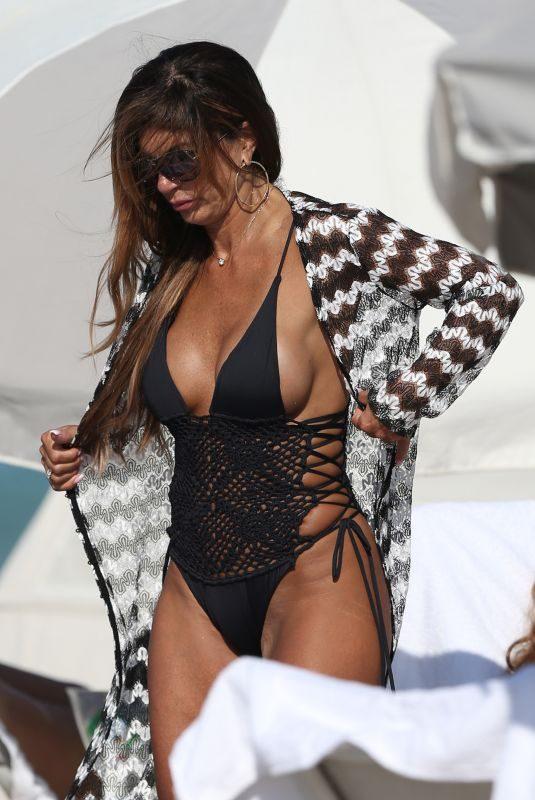 TERESA GIUDICE in Swimsuit at a Beach in Miami 02/18/2019