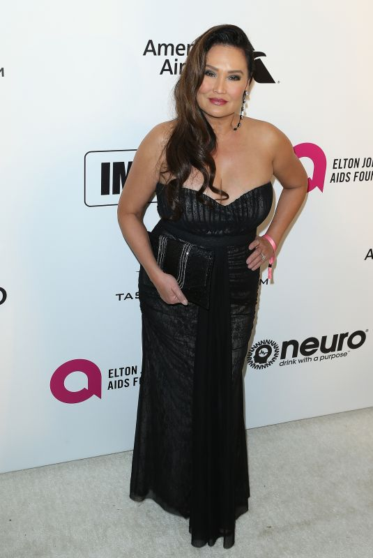 TIA CARRERE at Elton John Aids Foundation Oscar Party in Hollywood 02/24/2019