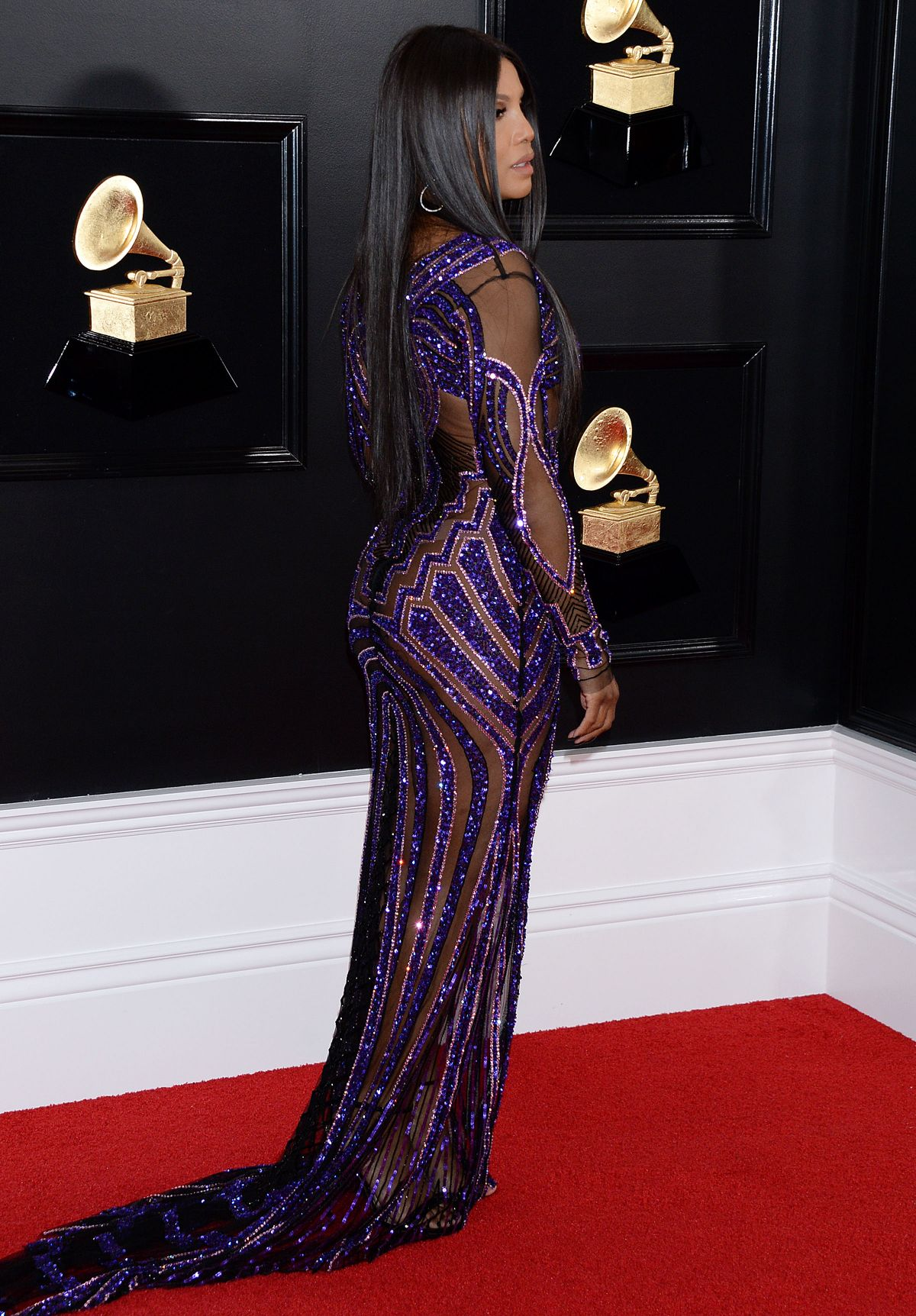 TONI BRAXTON at 61st Annual Grammy Awards in Los Angeles