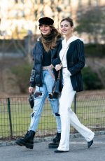 VICTORIA JUSTICE and MADISON REED Out at Central Park in New York 02/12/2019