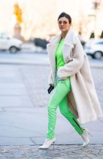 VICTORIA JUSTICE Out at New York Fashion Week 02/09/2019