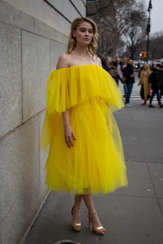 VIRGINIA GARDNER at New York Fashion Week 02/11/2019
