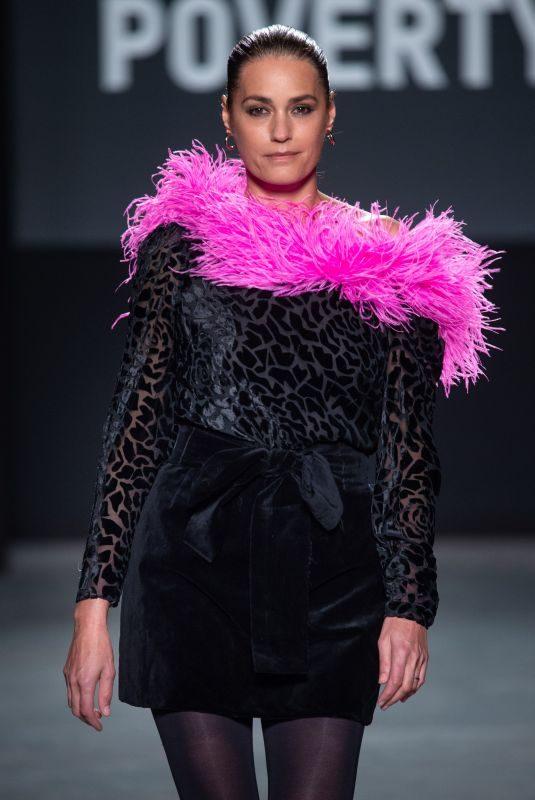 YASMINLE BON at Oxfam Fighting Poverty Catwalk Show at London Fashion Week 02/18/2019