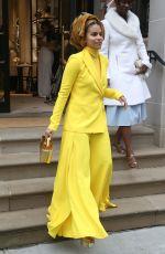 ZAZIE BEETZ Leaves Ralph Lauren Show at New York Fashion Week 02/07/2019