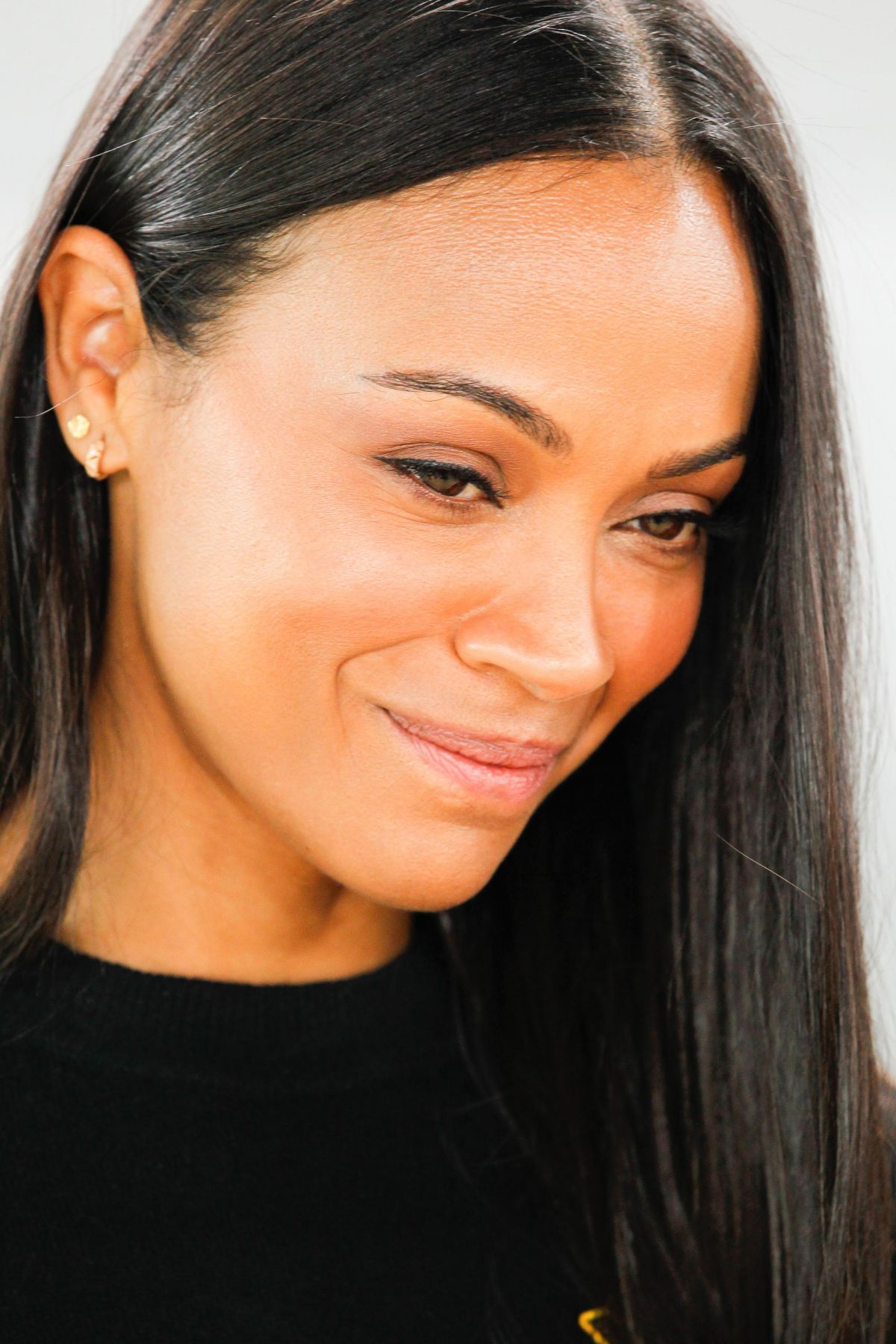 ZOE SALDANA at Science Fair Panel at TCA Winter Tour in ...