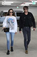 ALESSANDRA AMBROSIO and Nicolo Oddi Heading to a Movies in Century City 03/14/2019