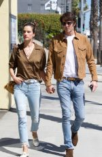 ALESSANDRA AMBROSIO and Nicolo Oddi Out in Los Angeles 03/12/2019
