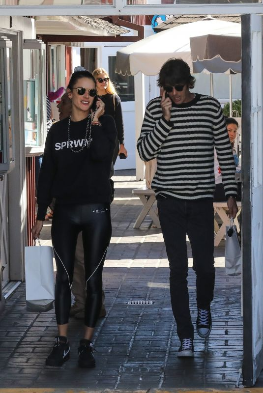 ALESSANDRA AMBROSIO and Nicolo Oddi Shopping at Brentwood Country Mart 03/13/2019