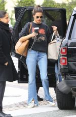 ALESSANDRA AMBROSIO Arrives at a Hotel in Beverly Hills 03/05/2019