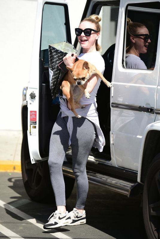 ALESSANDRA TORRESANI Out with Her Dog in Studio City 03/29/2019