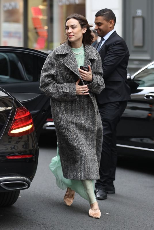 ALEXA CHUNG Arrives at Bristol Hotel in Paris 03/04/2019