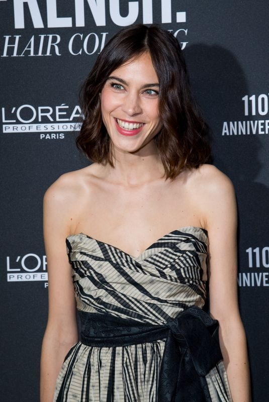 ALEXA CHUNG at La French Art of Coloring 110th Anniversary of L'Oreal Professional in Paris 03/24/2019