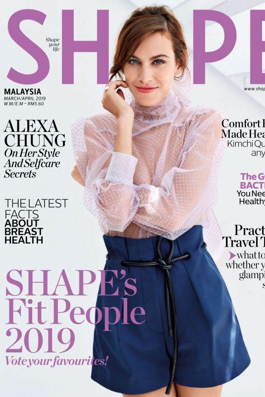 ALEXA CHUNG in Shape Magazine, Malaysia March 2019