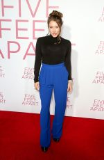 ALEXANDRA VINO at Five Feet Apart Premiere in Los Angeles 03/07/2019