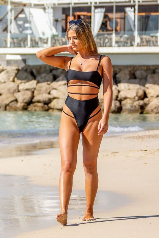 ALICIA OATES in Swimsuit at a Beach in Tenerife 03/12/2019