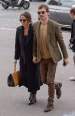 ALICIA VIKENDER and Michael Fassbender at Girafe Restaurant in Paris 03/03/2019