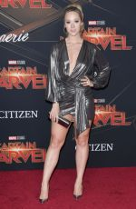 ALISHA MARIE at Captain Marvel Premiere in Hollywood 03/04/2019
