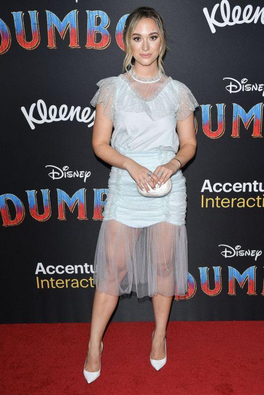 ALISHA MARIE at Dumbo Premiere in Hollywood 03/11/2019