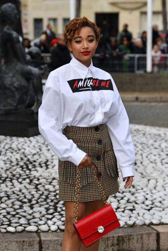 AMANDLA STENBERG at Miu Miu Show at Paris Fashion Week 03/05/2019
