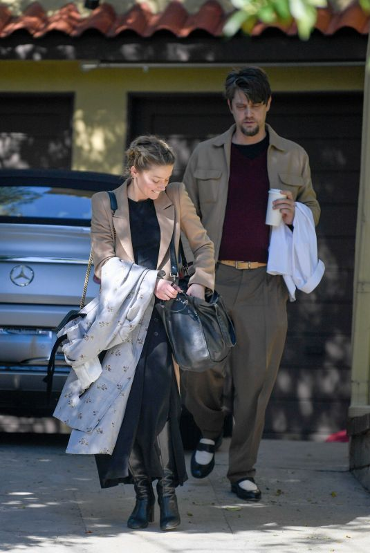 AMBER HEARD and Andy Muschietti Kissing Out in Los Angeles 03/13/2019