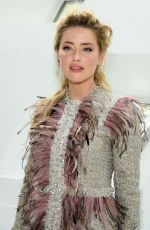 AMBER HEARD at Giambattista Valli Show at Paris Fashion Week 03/04/2019