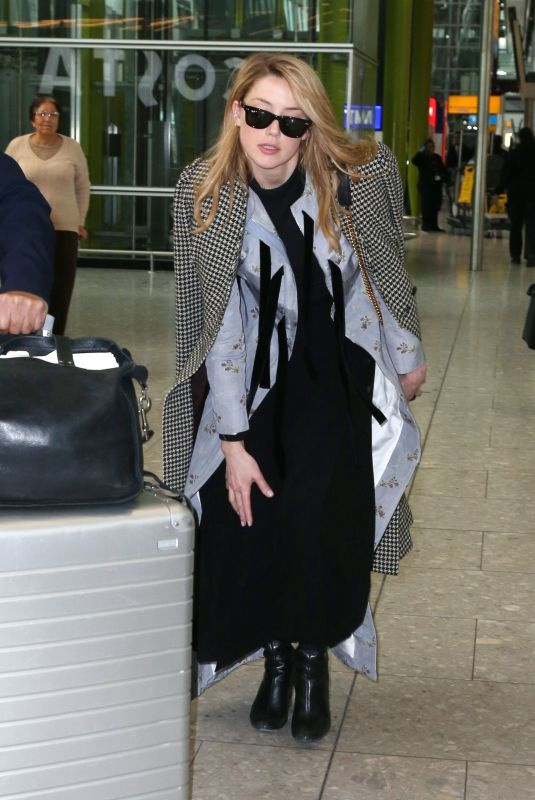 AMBER HEARD at Heathrow Airport in London 03/06/2019