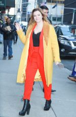 AMBER TAMBLYN Arrives at Late Show with Stephen Colbert in New York 03/05/2019