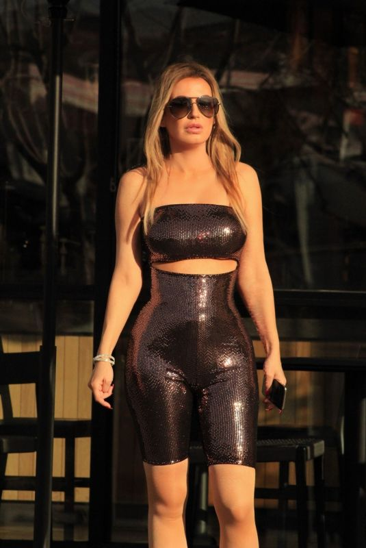 ANA BRAGA in Tights at Starbucks in Los Angeles 03/04/2019