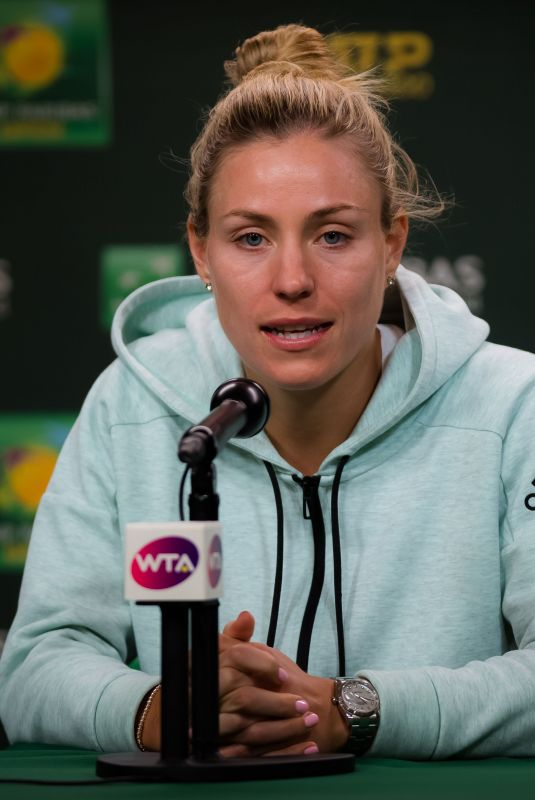 ANGELIQUE KERBER at 2019 Indian Wells Masters 1000 Press Conference 03/15/2019
