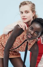 ANGOURIE RICE, ADUT AKECH and AMY SHARK vor Vogue, Australia March 2019