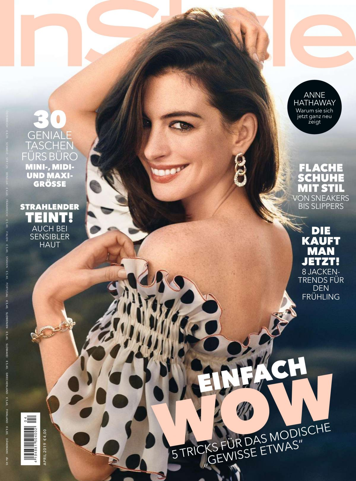 Instyle Magazine Us: ANNE HATHAWAY In Instyle Magazine, Germany April 2019