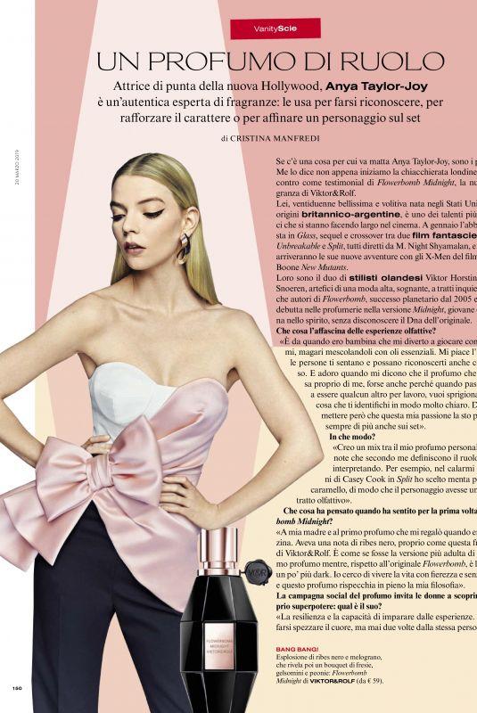 ANYA TAYLOR-JOY in Vanity Fair, Italy March 2019