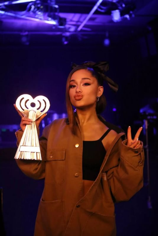 ARIANA GRANDE at Iheartradio Music Awards 2019 in Los Angeles 03/14/2019