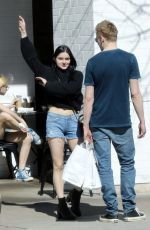 ARIEL WINTER in Denim Cutoff Out for Lunch in Los Angeles 03/16/2019