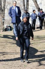 ARIELLE KEBBEL on the Set of Lincoln in New York 03/19/2019